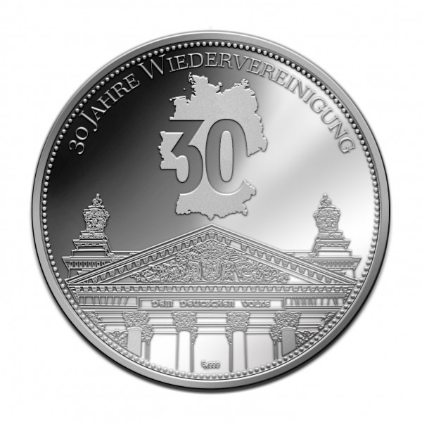 Sonderprägung 30 Jahre Wiedervereinigung - Silber